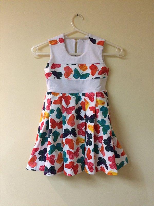 Vestido Estampa Borboletas Infantil