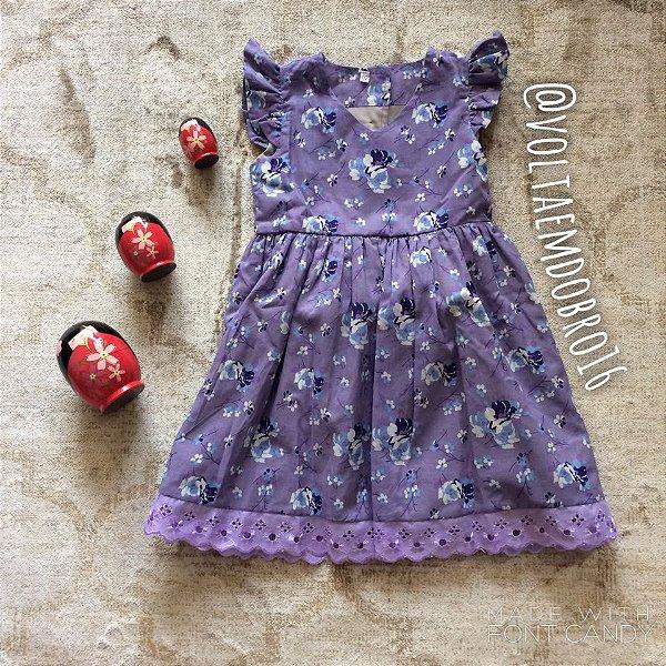 Vestido Florido com Saiote Infantil