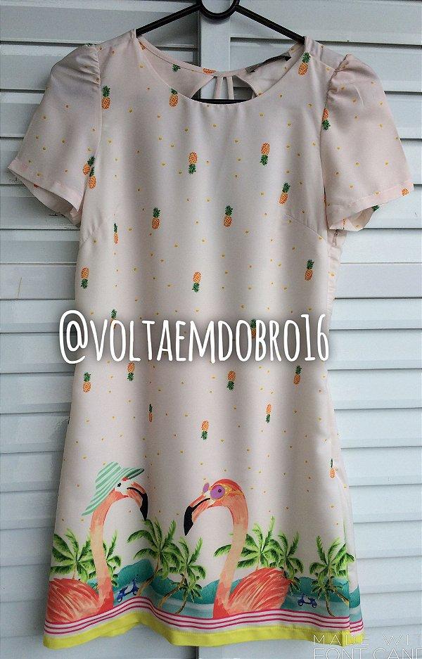 Vestido Casal de Flamingos