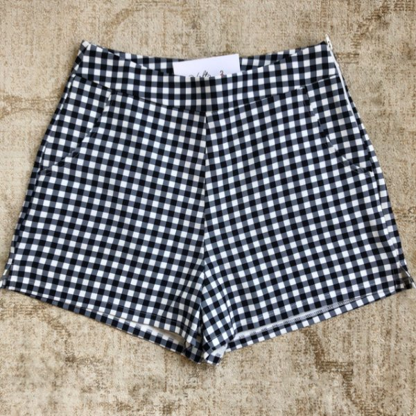 Shorts Estampado com Nesga Lateral Vichy