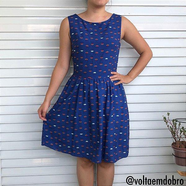 Vestido Melancias Azul
