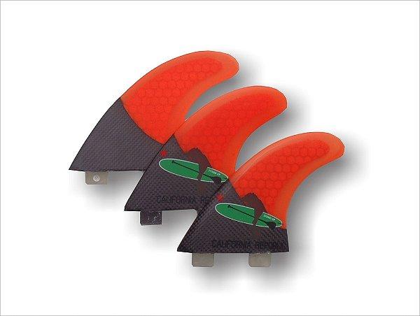 Jogo Tri quilhas SURF - Carbono / HoneyComb