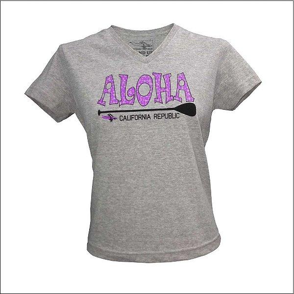 Baby Look Feminina Aloha - Mescla