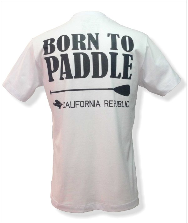 Camiseta Born to paddle - Branca