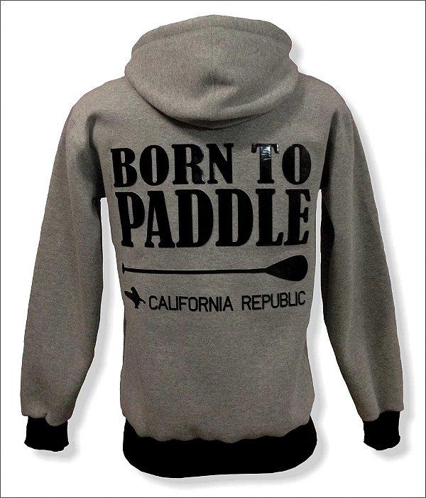 Moletom Canguru - Born to Paddle - California Republic