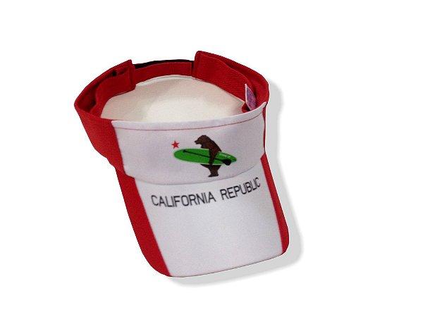Viseira California Republic - VERMELHA - California Republic SUP d5755e0b2eb