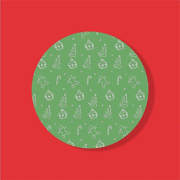 Cake Board Estampado Redondo - Stickers Natal Nº4