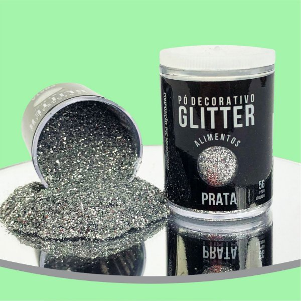 Pó Glitter Prata 5g