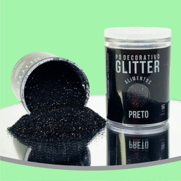 Pó Glitter Preto 5g
