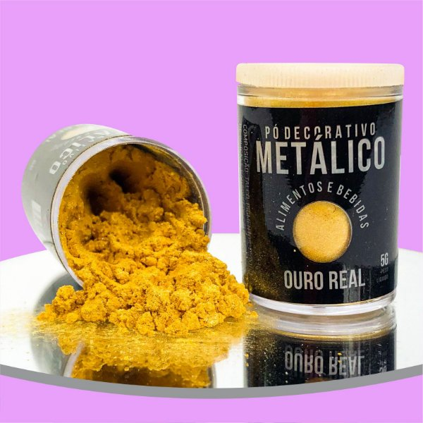 Pó Metálico Ouro Real 5g