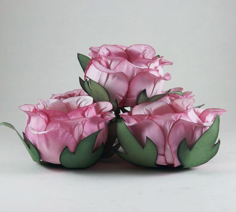 Forminha Botão de Rosa 50 Unidades Rosa