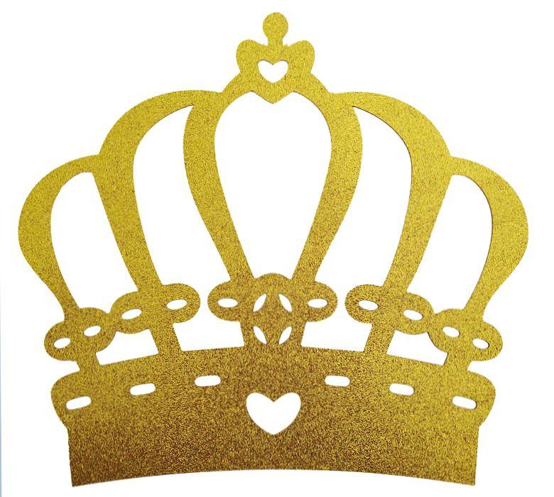 Coroa EVA Glitter Dourada