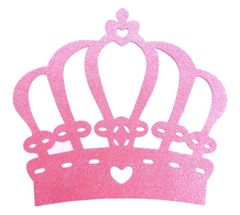 Coroa EVA Glitter Rosa