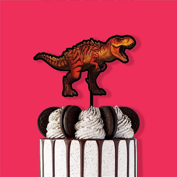 Topo de Bolo Dinossauro Color Glitter Aniversário