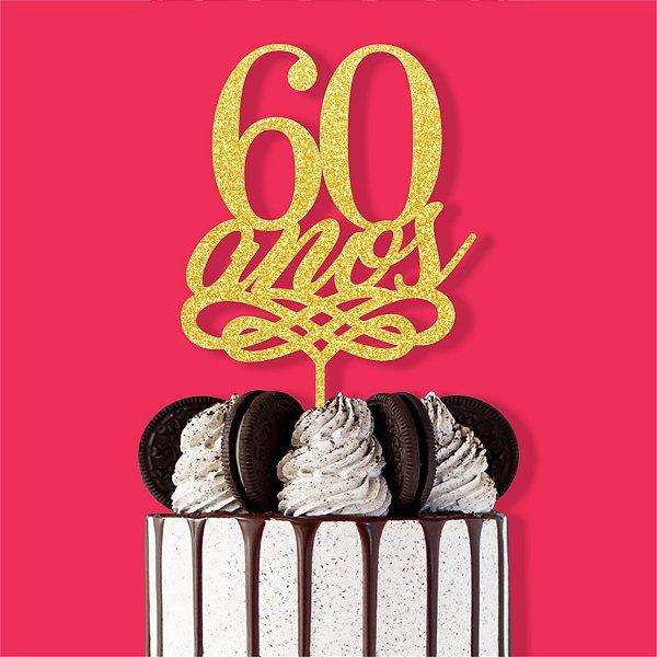 Topo Bolo 60 Anos