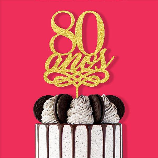 Topo Bolo 80 Anos