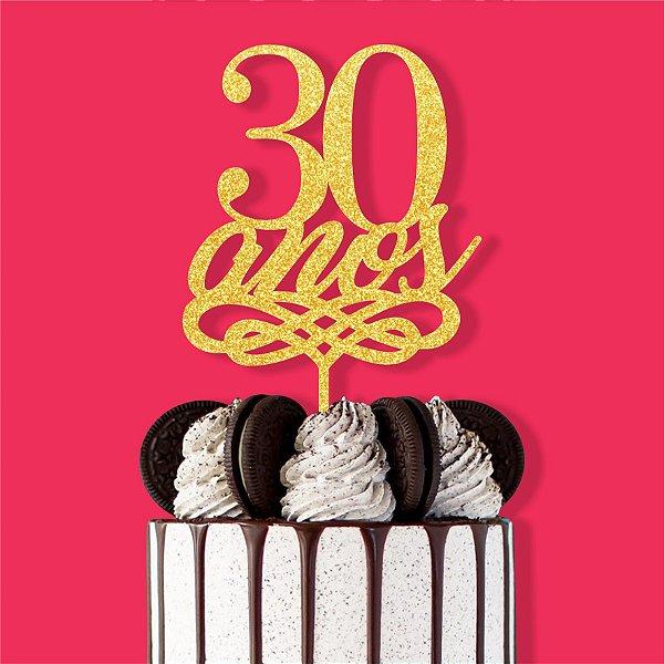 Topo Bolo 30 Anos