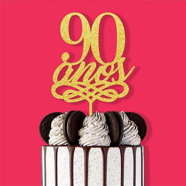 Topo Bolo 90 Anos