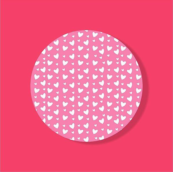 Cake Board Estampado Redondo - Coração (Dois)