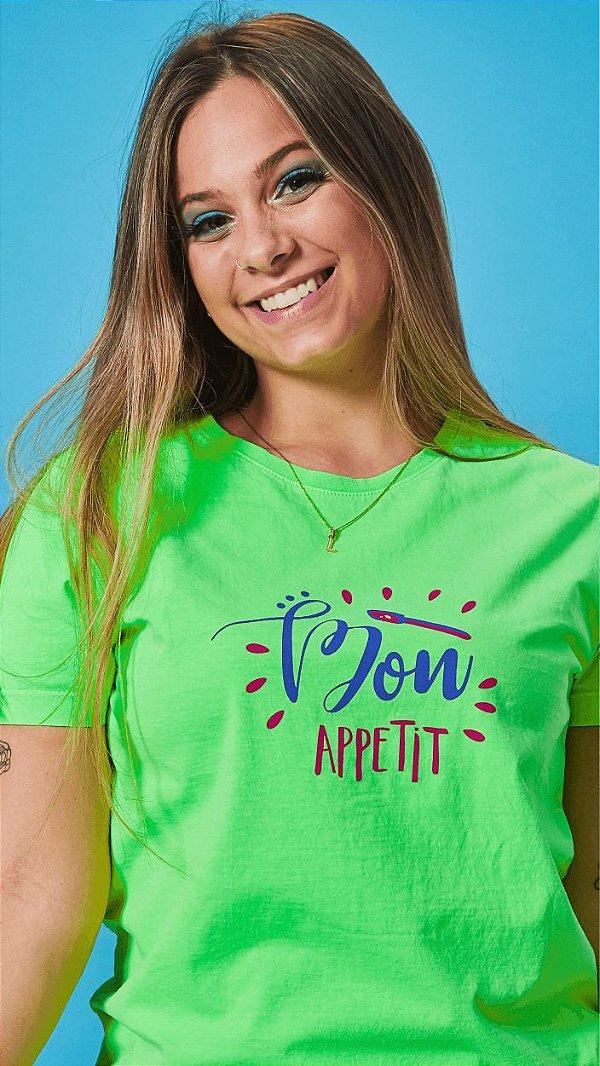 Camiseta Feminina Bon Appetit Verde