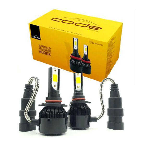 KIT SUPER LED STANDARD HB3 HIR2 7800LM 6K COB CODE