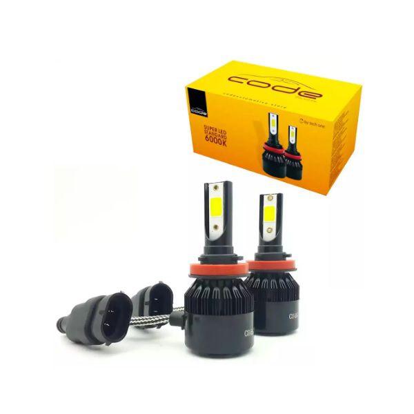 KIT SUPER LED STANDARD H8 H11 7800LM 6K COB CODE