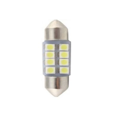 LAMPADA TORPEDO 8 LEDS 31MM 6K