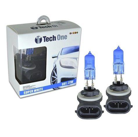 PAR LAMPADAS SUPER BRANCA H27 8500K 27W 12V TECH ONE