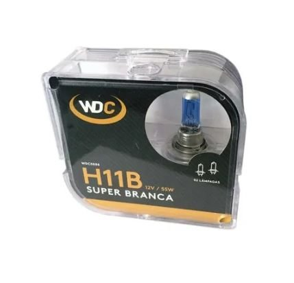 PAR LAMPADAS SUPER BRACA H11B 5000K 55W 12V WDC