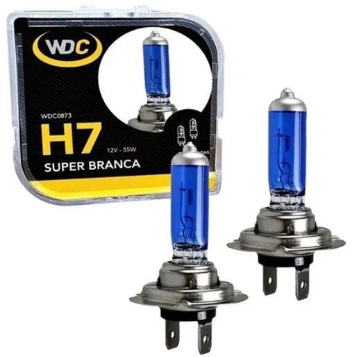 PAR LAMPADAS SUPER BRANCA H7 5000K 55W 12V WDC