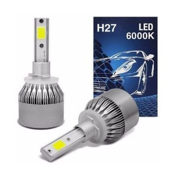 KIT SUPER LED H27 4600LM 6K D-LUX