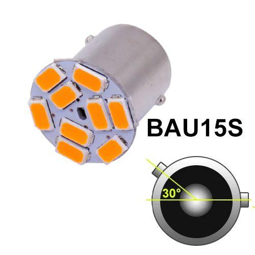 LAMPADA PISCA 9 LED AMBAR BAU15S