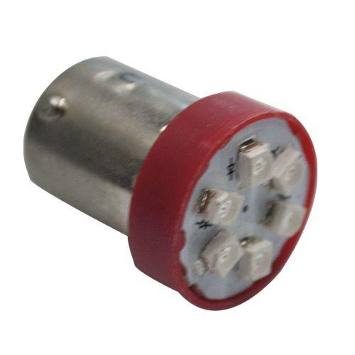PAR LAMPADAS 1 POLO 6 LEDS 67 VERMEHLO 12V AUTOPOLI