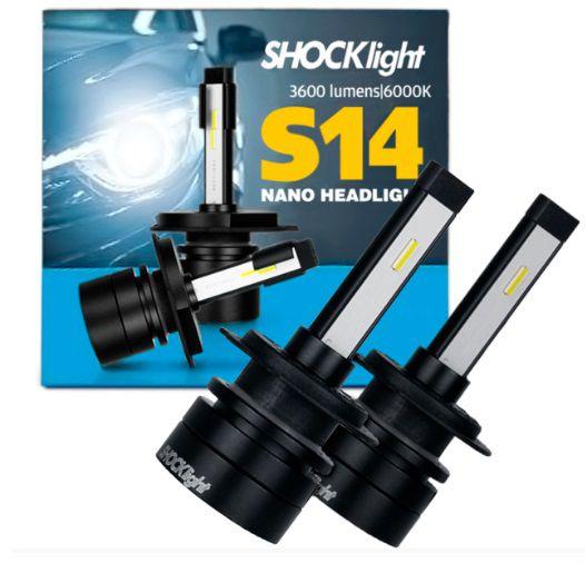 KIT NANO LED H7 7200LM 6K S14 SHOCKLIGHT