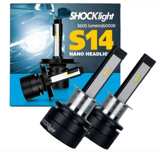 KIT NANO LED H3 7200LM 6K S14 SHOCKLIGHT