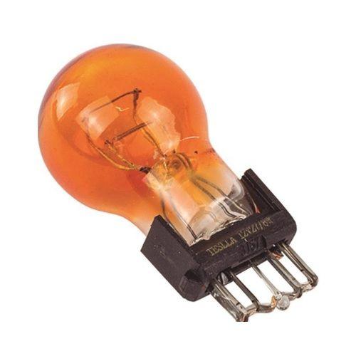 LAMPADA PISCA BASE PLASTICO 27/7W AMBAR - TESLLA