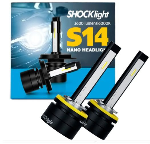 KIT NANO LED H27 7200LM 6K S14 SHOCKLIGHT