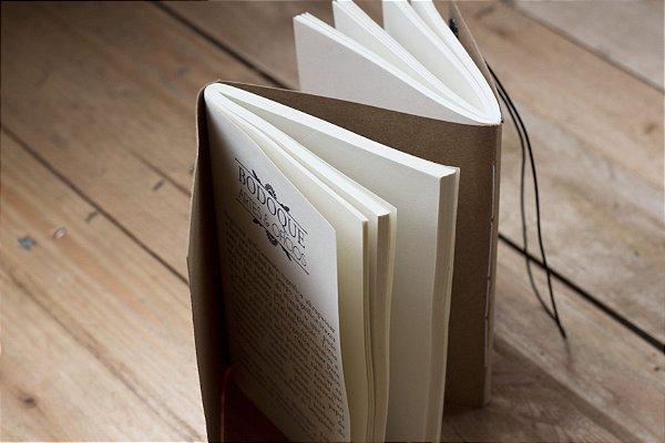 DEUX EN UN - Caderno artesanal Duplo formato A6