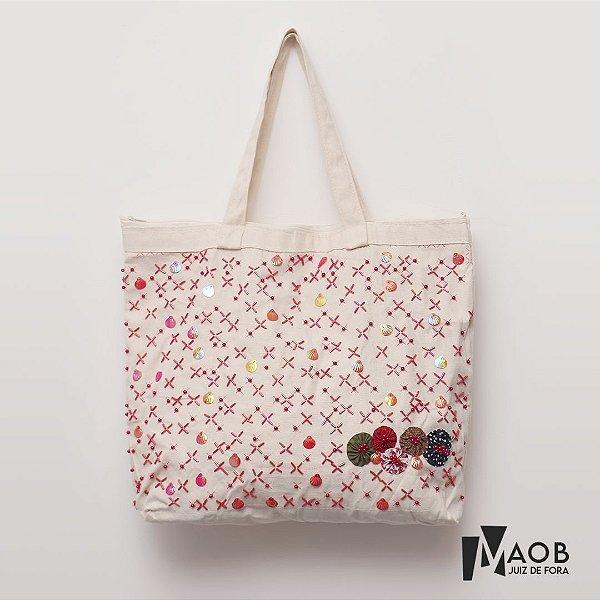 Bolsa artesanal de tecido praia - MAOB