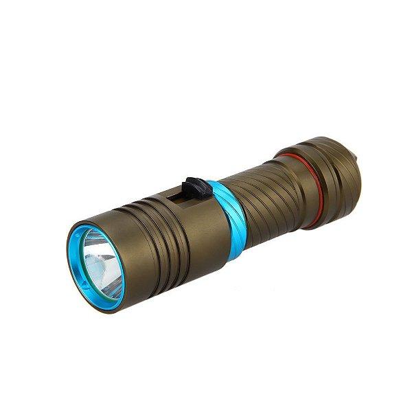 Lanterna de Mergulho Profissional até 50 metros - JYX - Universo das Lanternas