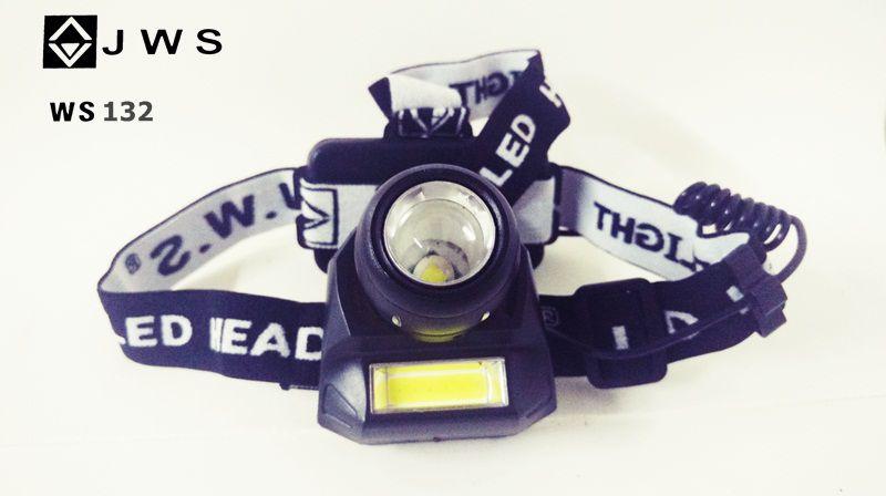 Lanterna Cabeça T6 + Cob JWS 132  RECARREGÁVEL