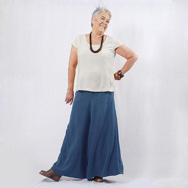Saia-Calça Plus Size de Viscose Navi