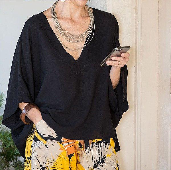 Blusa Soft Decote V Diversas Cores