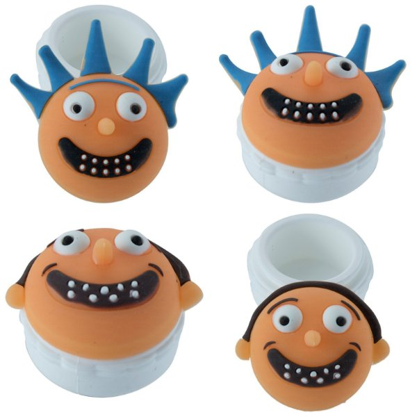 OIL SLICK DE SILICONE RICKY AND MORTY 20ML KIT COM 2 UNIDADES