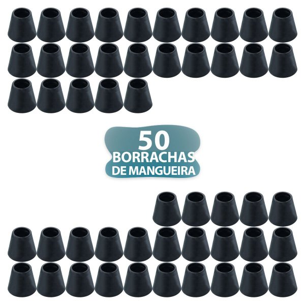 50 BORRACHA PRETA DE MANGUEIRA PARA NARGUILE