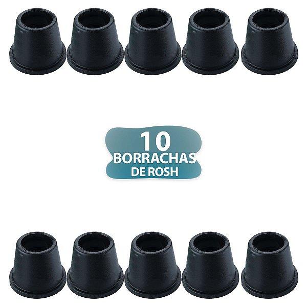 10 BORRACHA PRETA DE ROSH PARA NARGUILE