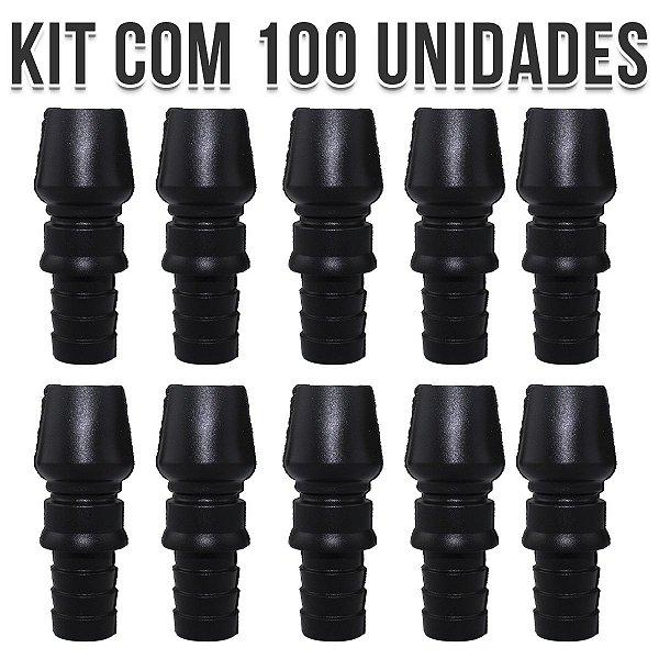 CONTRA PITEIRA DE SILICONE UNIVERSAL BLACK (KIT COM 100 UNIDADES)