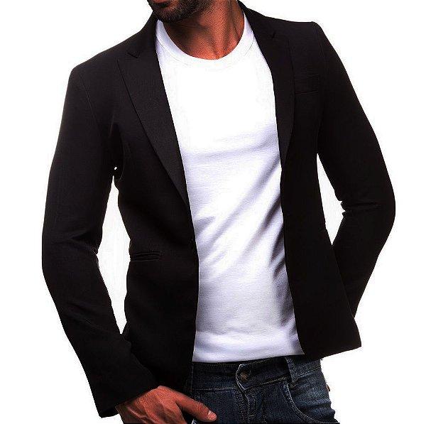 Blazer Slim Fit Masculino Casual Semi Forrado