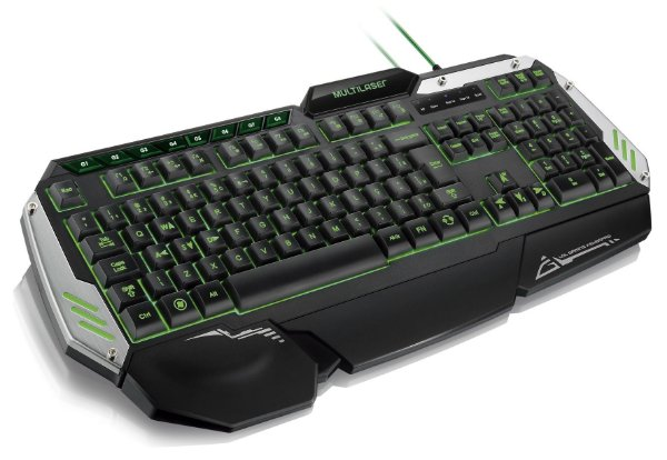 Teclado Multilaser TC189 Gamer Metal War 12 Funções Multimidia com LED USB