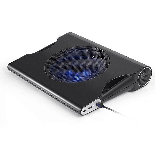 Suporte Base Cooler para Notebooks 15.6 Polegadas com Caixa de Som 10W RMS Som Digital Multilaser AC171